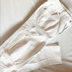 Wild Fable Distressed White Jeans